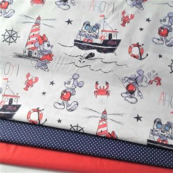 TELA INFANTIL DISNEY MINNIE AND MICKEY MARINEROS 14€ metro