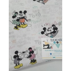 TELA DE DISNEY MINNIE Y MICKEY SECRETITOS 12€ metro