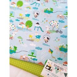 Tela de animales, tela de granja, telas de algodón, algodón orgánico, telas por metros, tela para mascarillas, pul, tienda de te