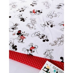 TELAS DISNEY MINNIE Y MICKEY SILUETA 12€m